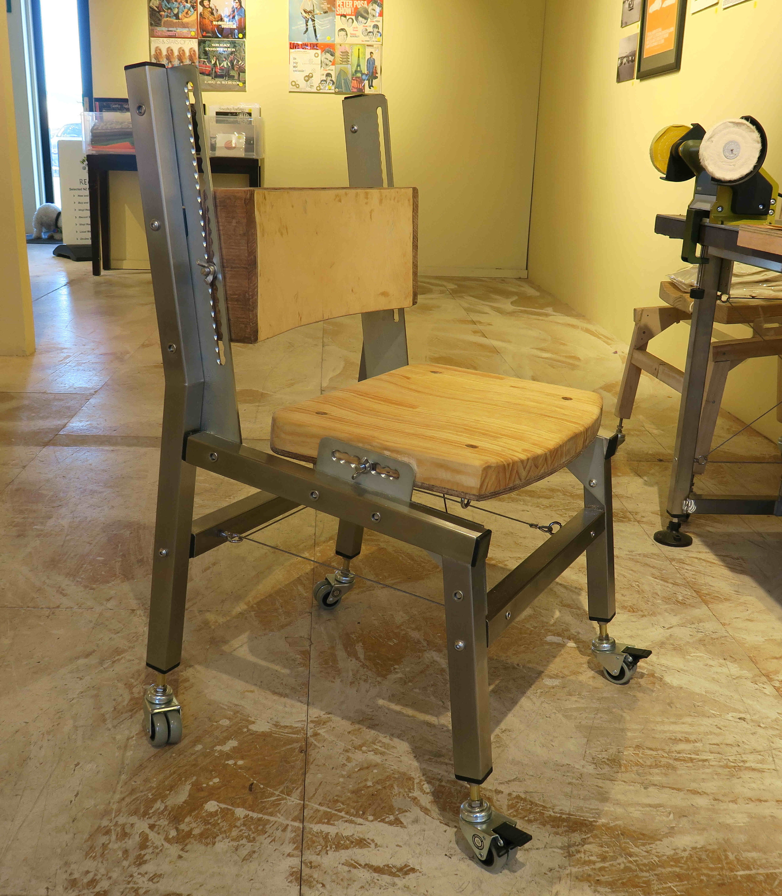 Engineering Workchair 'The 7 degreee chair'    Made to order 12 week delivery lead time from date of confirmed order
