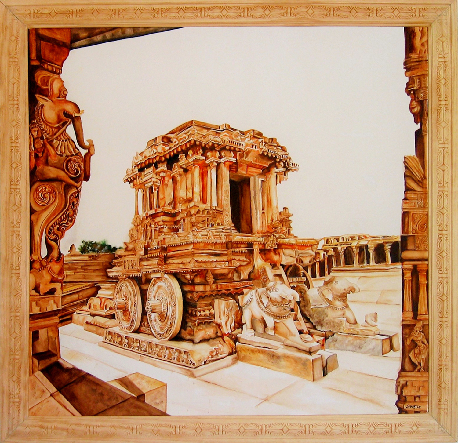 Stone Chariot at Hampi
