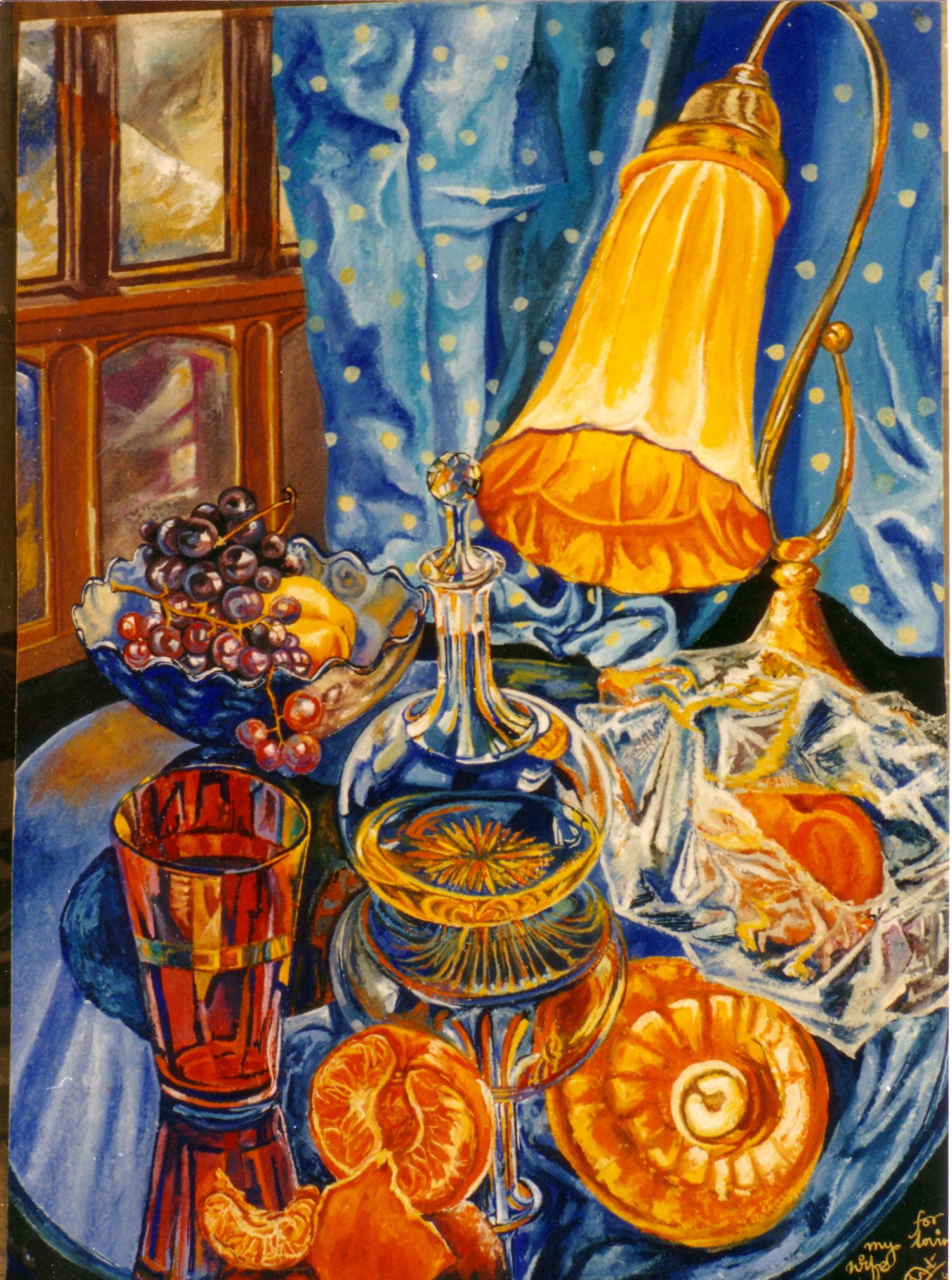 Still Life with Oranges and Orange Lamp