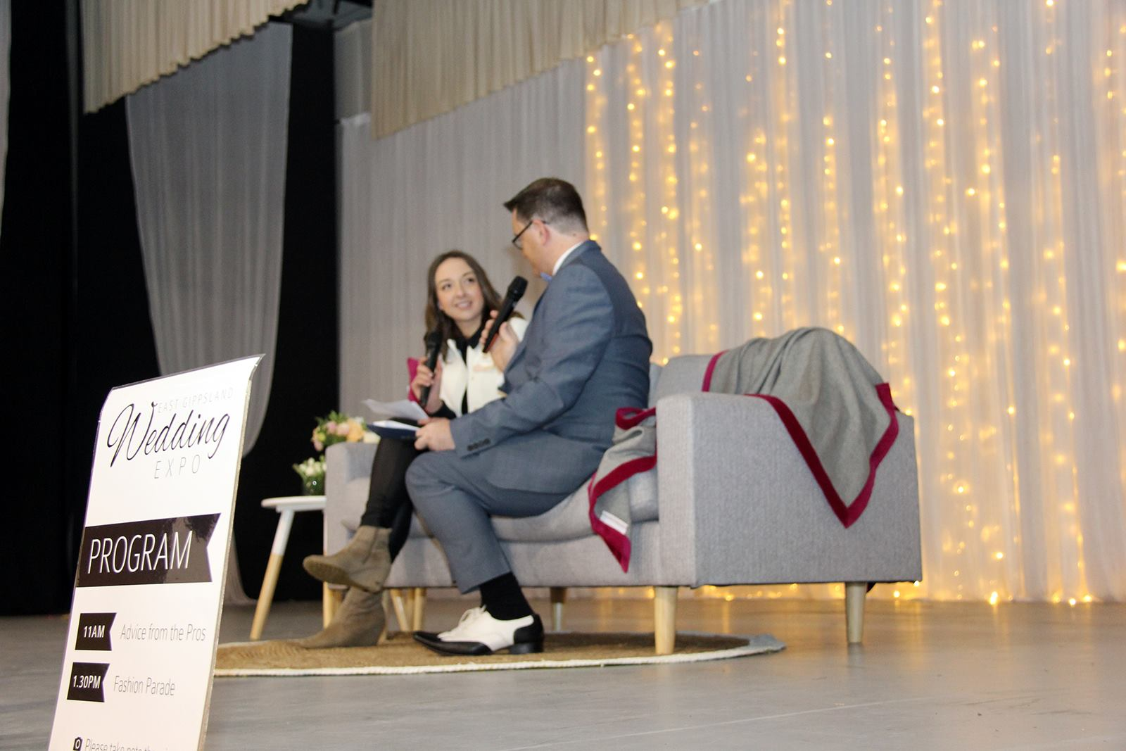 Advice from the Pros talk on stage at the 2015  EG Wedding Expo . Image:  Hayley Smith