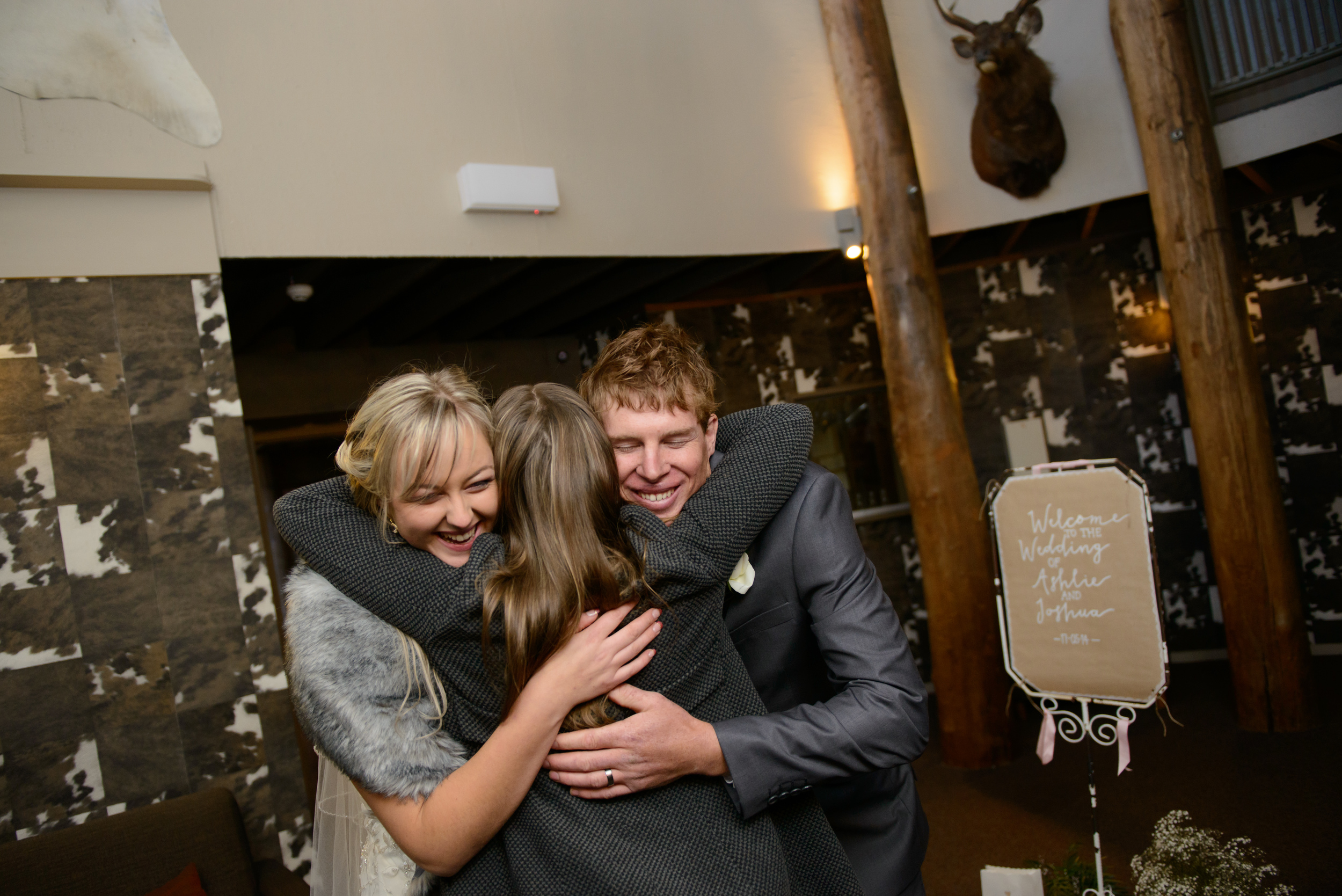 Congratulating our fabulous couple Ashlie & Josh on their wedding day in Dinner Plain. Image: Alice Campbell Photography