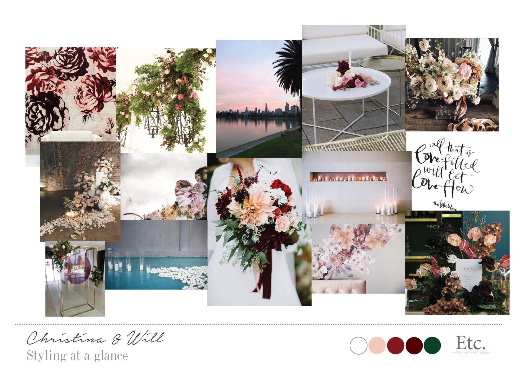 Design - - Through an initial meeting, we get to know the look and feel you're dreaming up for your big day.- We design your day with the perfect complimenting suppliers in mind.- We present you with a visual overview of what your styling entails.