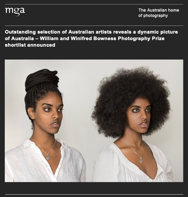 "Wow I was very pleasantly surpised to be selected as a finalist in the Bowness Photography Prize for 2019. This is one Australia's most respected photography prizes and I have to say very difficult to be hung. ""The Prize has become an important survey of contemporary photographic practice and one of the most prestigious prizes in the country"". I'm in some very esteemed company and am so looking forward to the opening night at the Monash Gallery of Art with the announcement of the winner on 10th OCT."