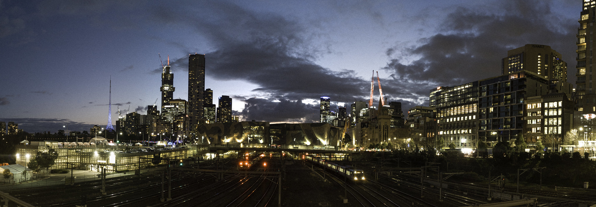 Fed Square from Batman Avenue