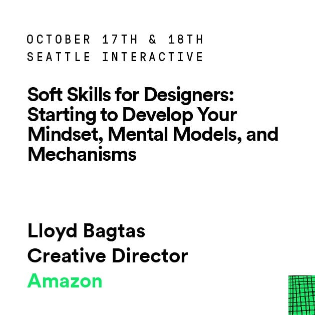Thursday, October 18 11:30am - 12:20pm Level 3 Tahoma 2  #sic2018 #design