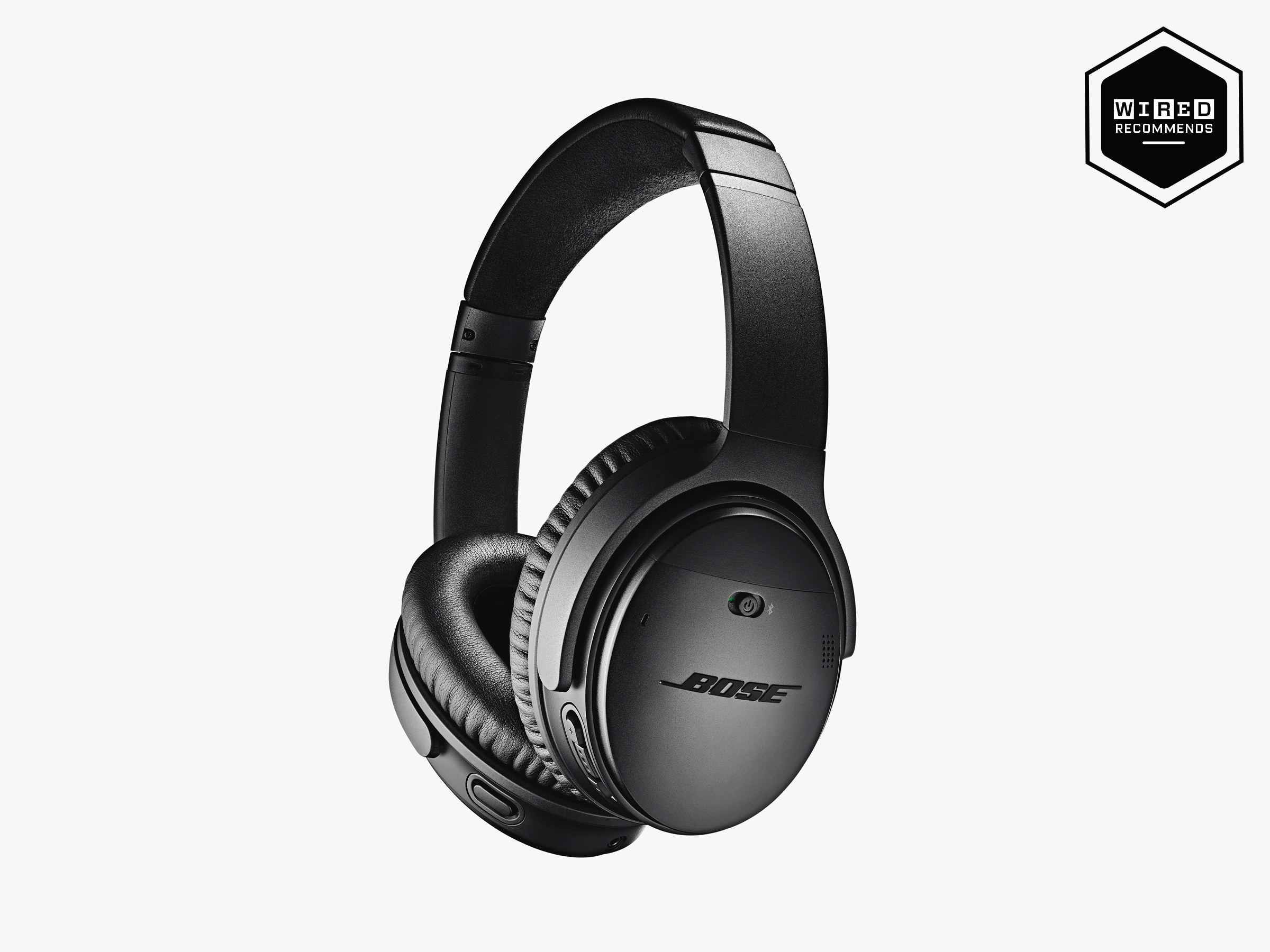 Bose have set the standard for active noise cancelation for some time, and the QuietComfort 35 II are its top cans. New users had Alexa installed out of the box. Source:  WIRED