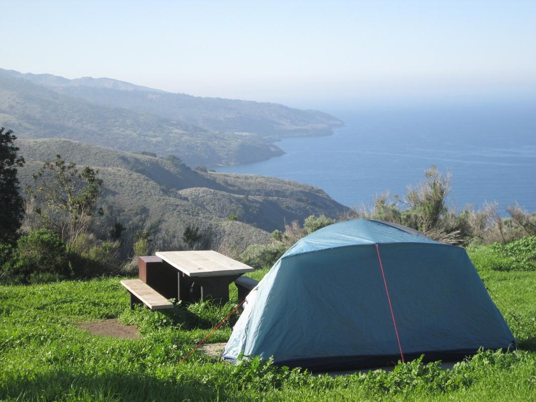 CALIFORNIA - Del Norte Campground, Santa Cruz Island, Channel Islands National Park, CA