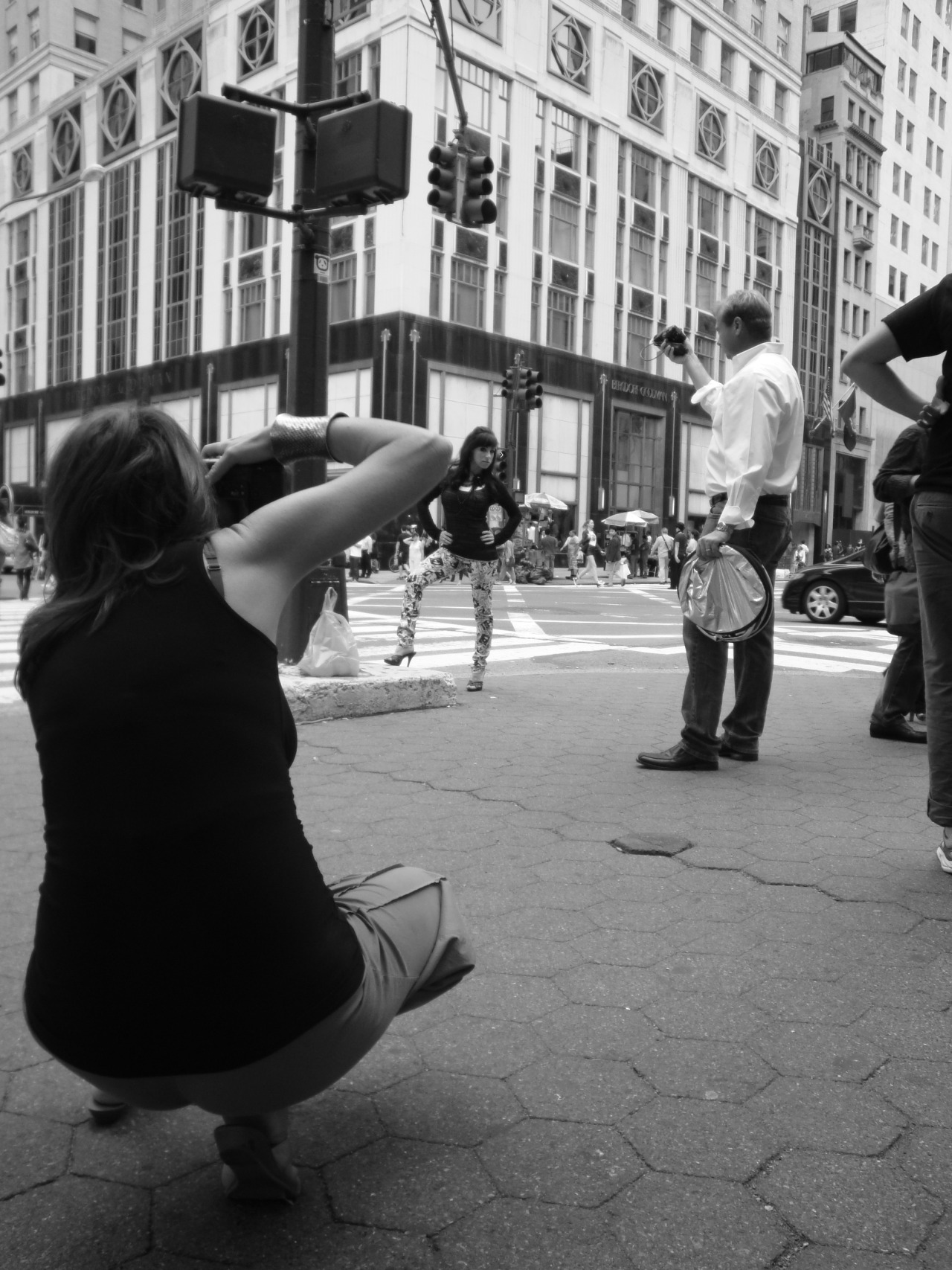 Behind the scenes of the NYC 5thAvenue photoshoot wit h Teresa Lee Photography