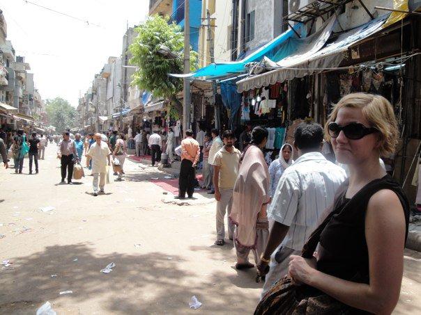 India - market in Delhi