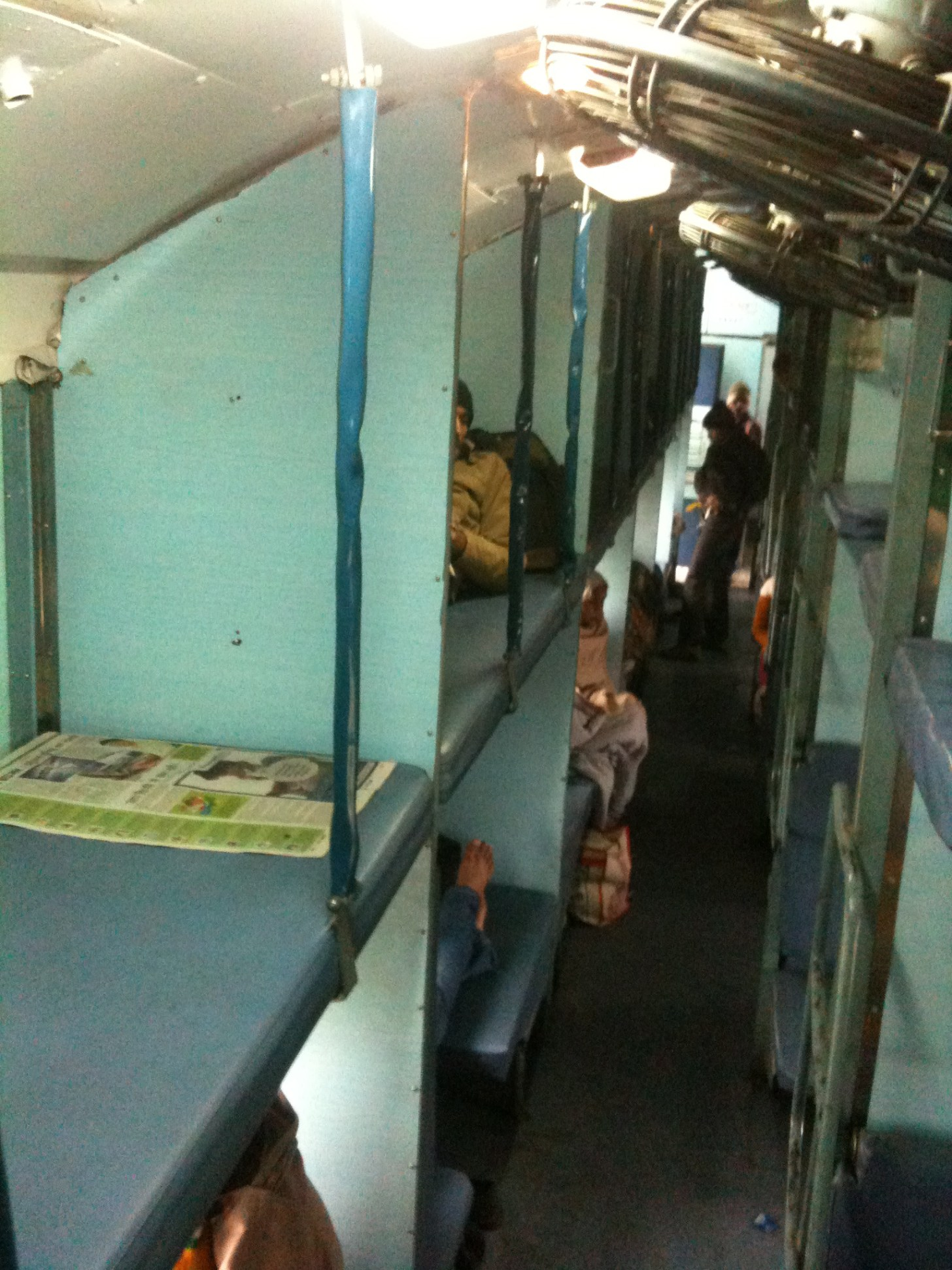 INDIA - Second class sleeper train.Pay the extra and book a First class ticket if you are on your own!