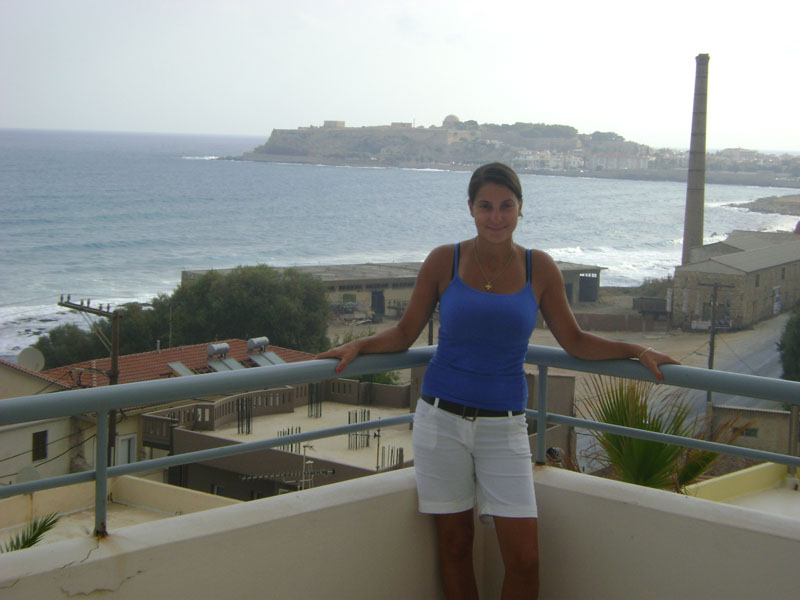 GREECE -  On the balcony of my cousin's home on Crete.