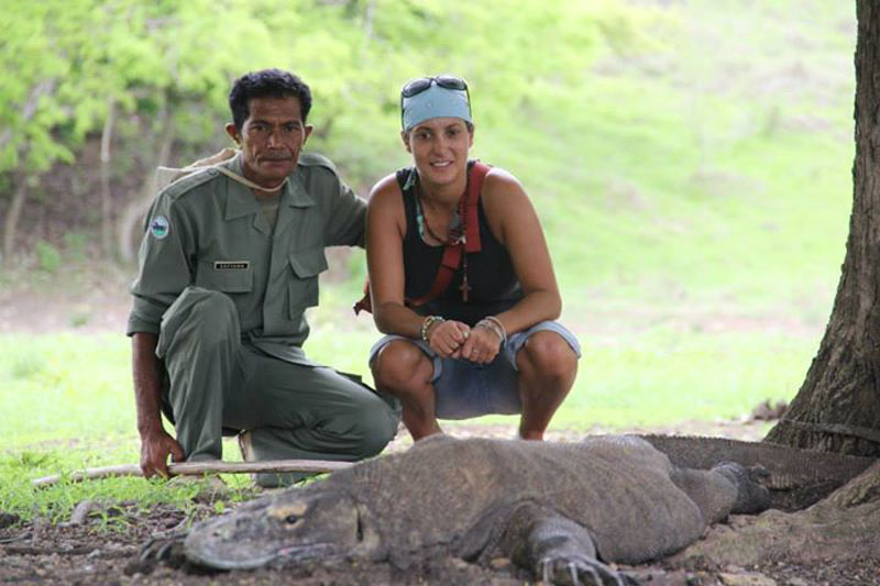 INDONESIA -  On Komodo Island with a tour guide and Komodo dragon. As a footnote, I was kinda scared in this moment. But it was very rewarding.