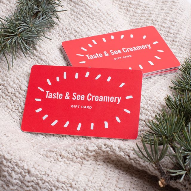 Christmas shopping just got a whole lot easier this year!  Get the perfect gift in one click with Taste and See Creamery gift cards!  For every $50 of gift card purchases, we're GIVING you an extra $10 bonus card!! Click the link in our profile to order yours today! (also available in stores at both of our locations) _________ • • • • • • #blackfridaydeals #tasteandseecreamery #thisisreddin g #homemadeicecream #gourmeticecream #mtshastamall #buzzfeedfood #yummy #delicious #icecream