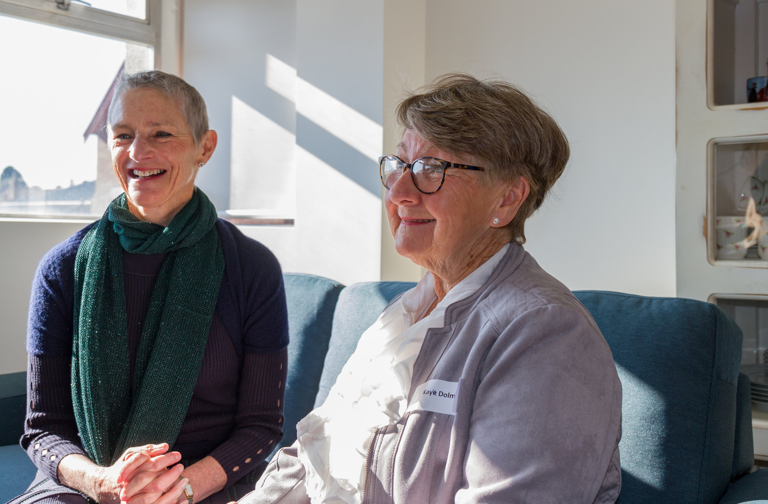 Her Excellency Kate Warner, Governor of Tasmania with the first resident, Mrs Kay Dolman. Photo Credit: Mark Franklin