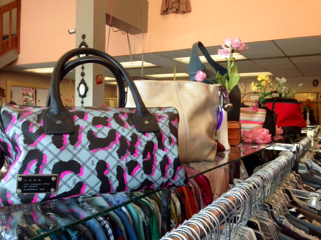 Swoon worthy bags at The Clothesline Consignment.