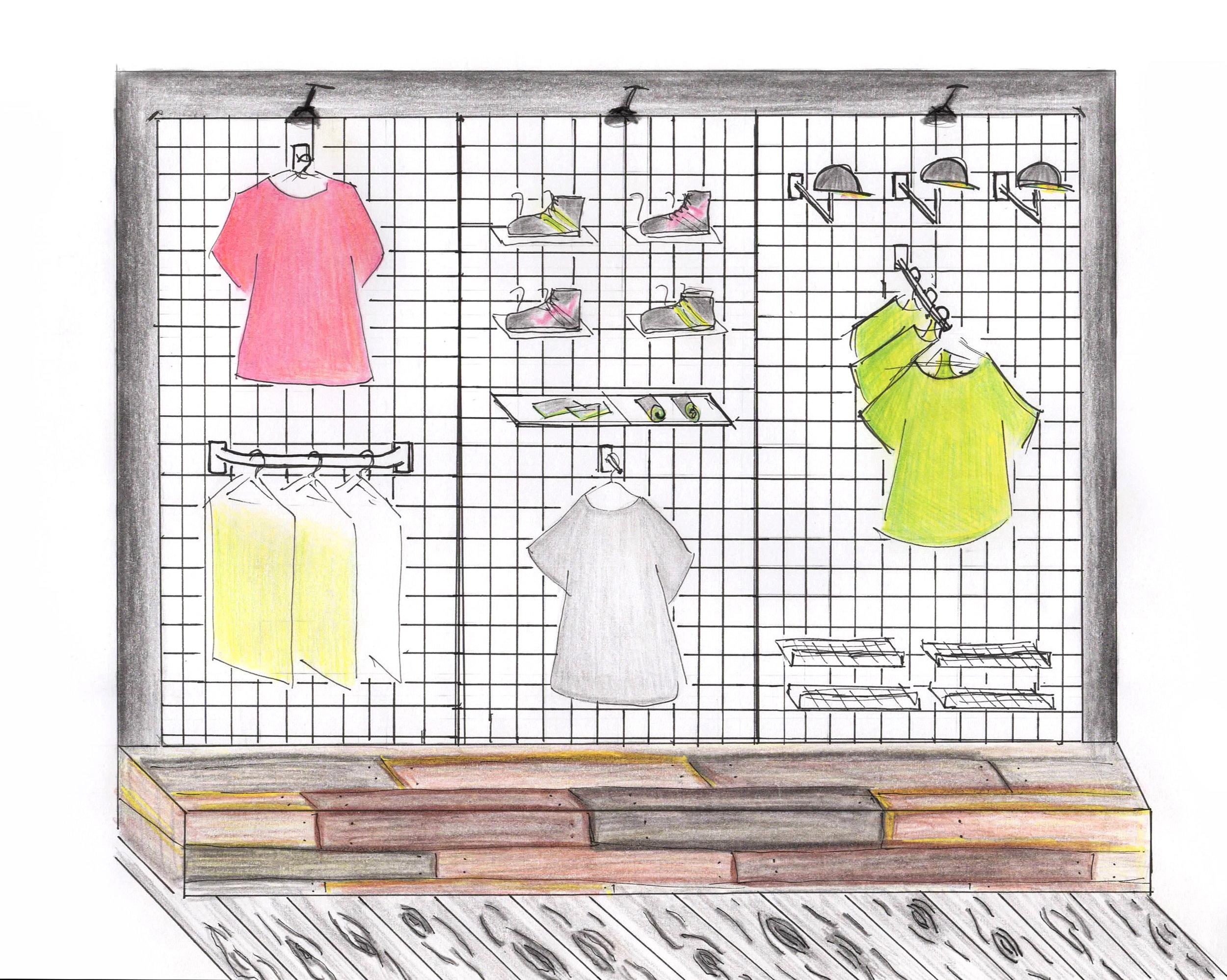 Urban sports shop sketch