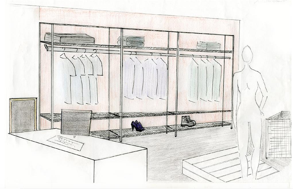Pop-up shop sketch