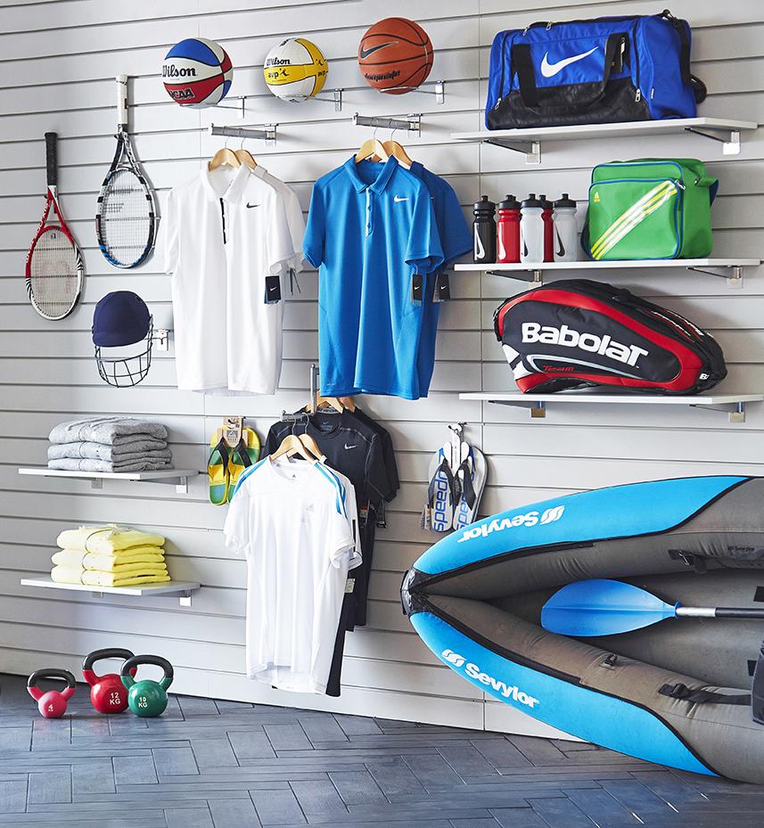 Sports shop Slatwall set