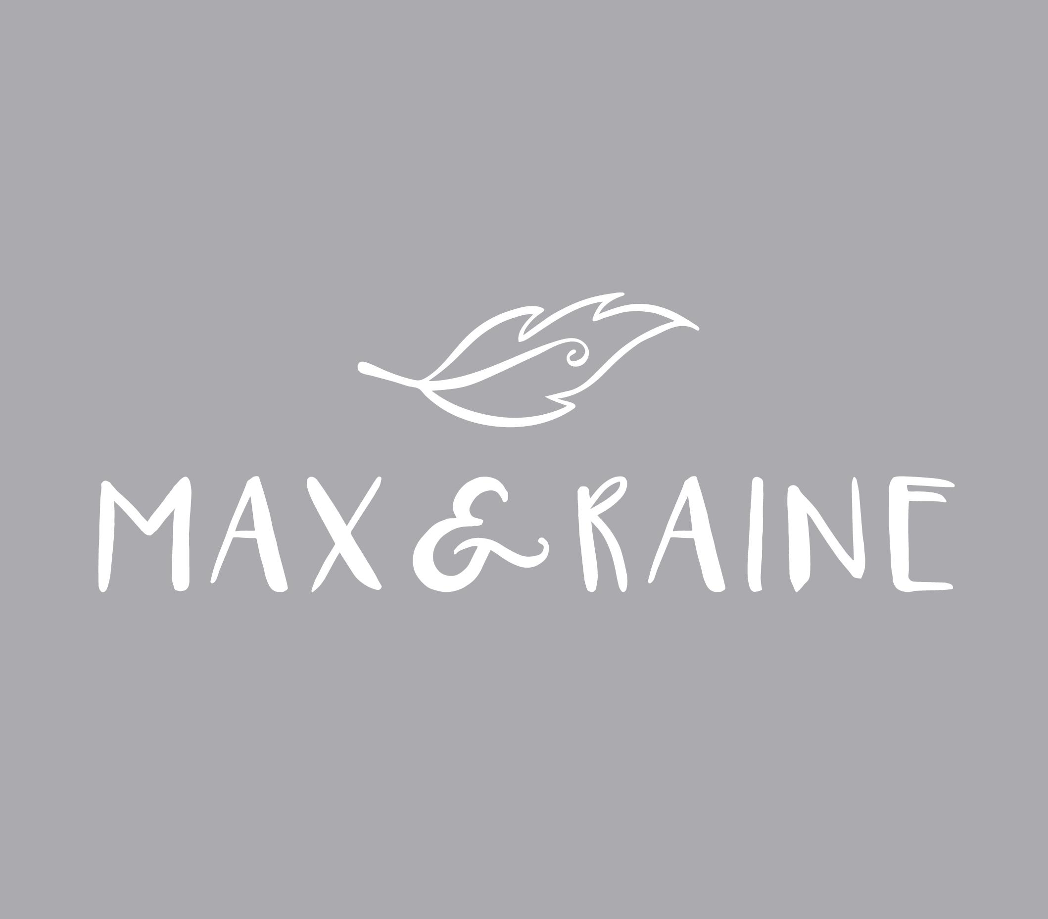 Max & Raine logo design - Logo design featuring hand drawn feather
