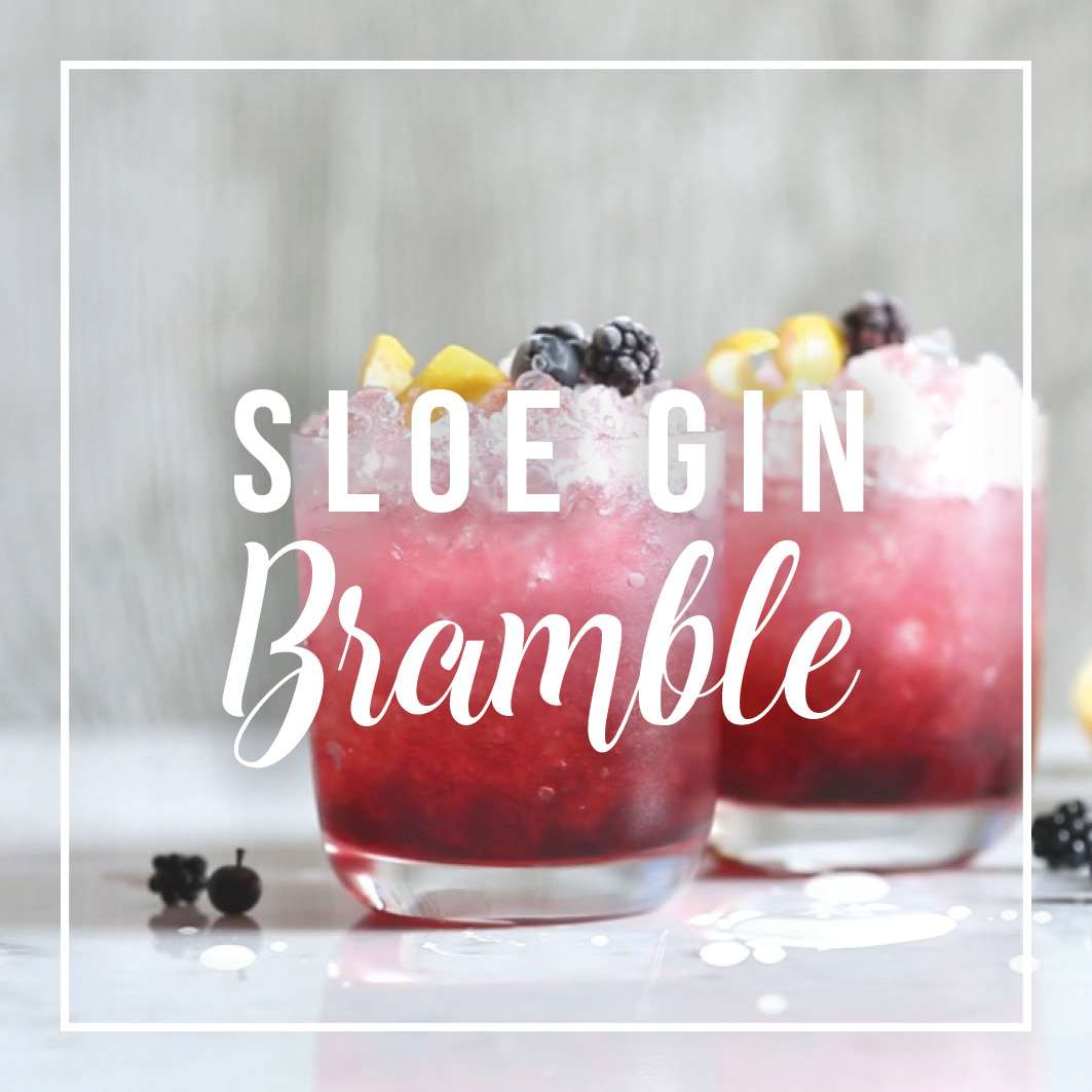 Sloe Gin Motion Graphics - Motion graphics (text and illustration) have been used to bring this instructional cocktail video to life on social media.