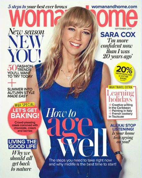 low-res Sara Cox, Woman&Home, September Issue Cover.png