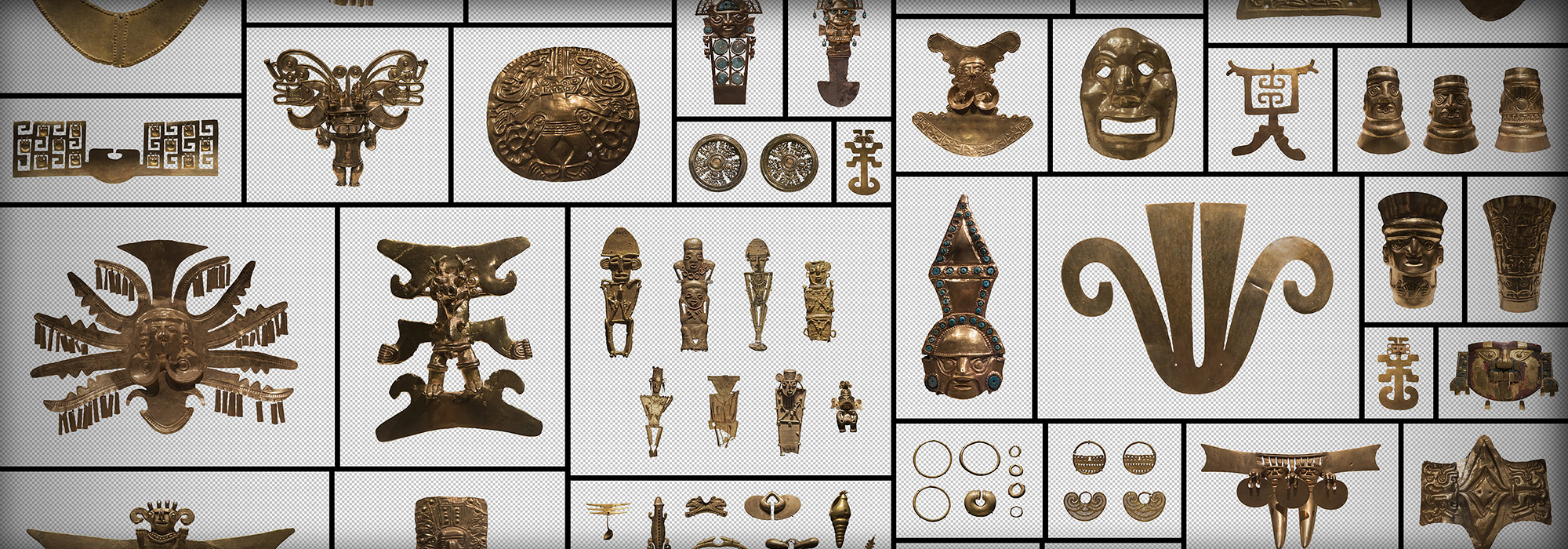 Aztec Gold Relics PNG Masked Alpha