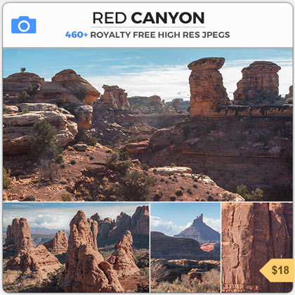 Red Canyon Western Landscape