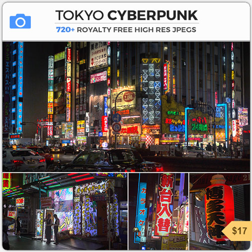 Tokyo Cyberpunk Night Scene City