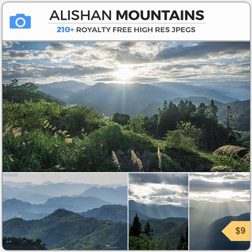 Alishan Mountains Foggy Hills