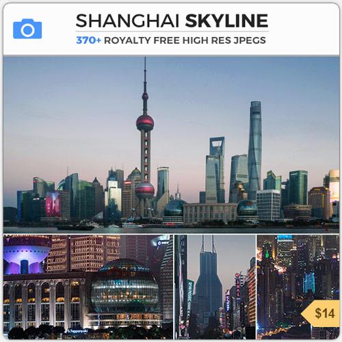 ShanghaiSkylineScifiSkyscrapers