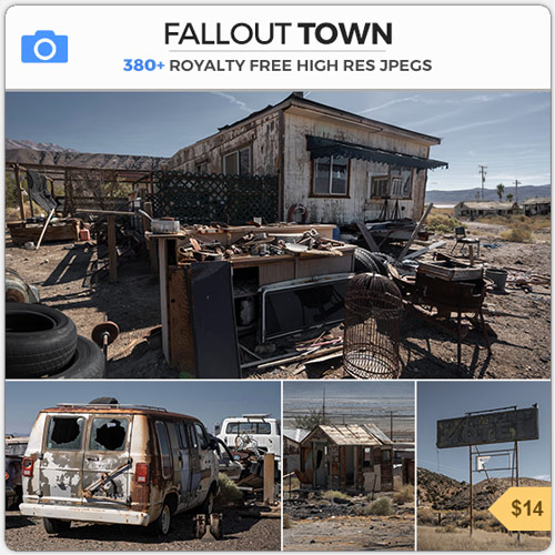 Fallout Town Derelict Post Nuclear