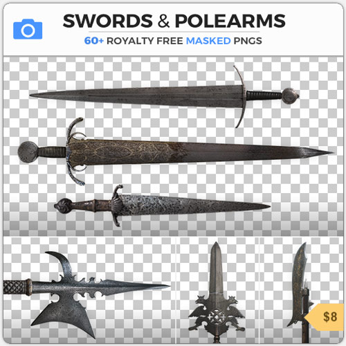 Swords Medieval Weapons PNG Stock