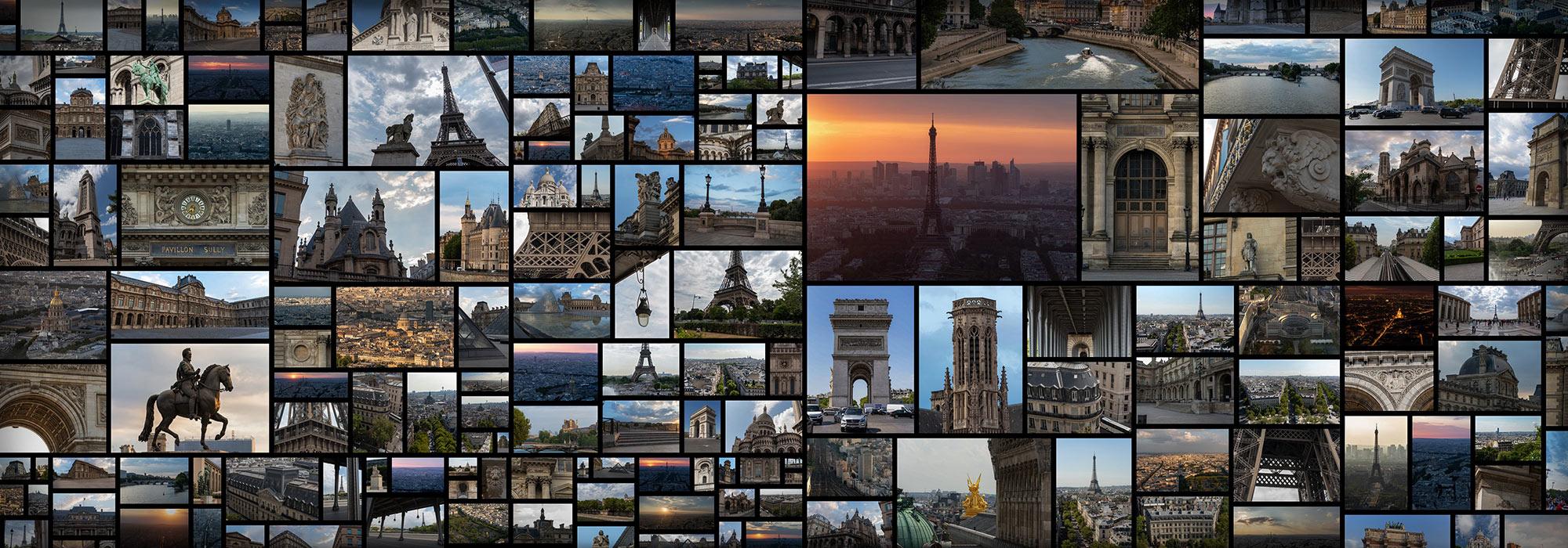 Paris City Eiffel Tower France Aerial References