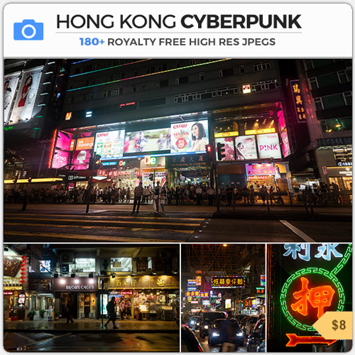 Hong Kong Cyberpunk Ghost In The Shell Neon City