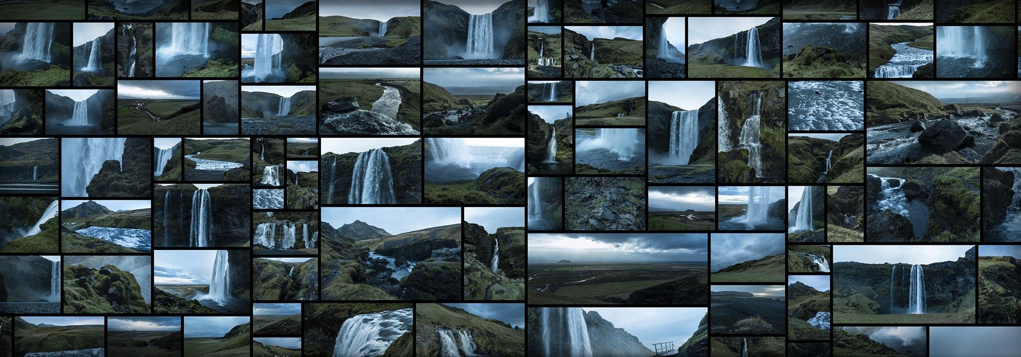 Icelandic Waterfalls Cascades Foggy Misty Mood