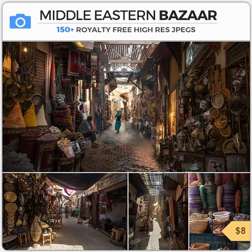 Middle East Bazaar Arabic Market Arabian Alley Morocco