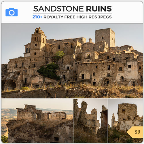 Sandstone Ruins Ghost Town Craco