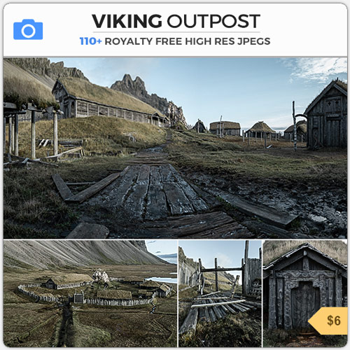 Viking Outpost Wooden Dwelling VIllage