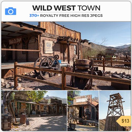 Wild West Town Western American Cowboy Mining