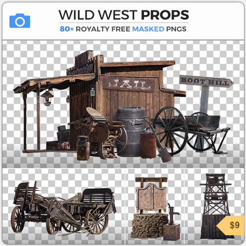 Wild West Props Western American PNG Masked Objects