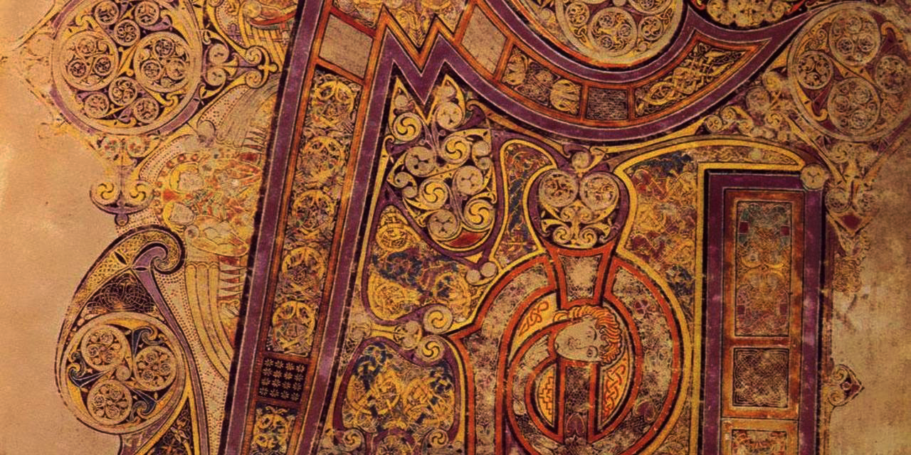 The Book of Kells in the Little Museum of Dublin - The Little