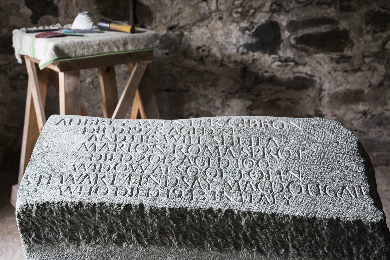 Kilvaree memorial, schist