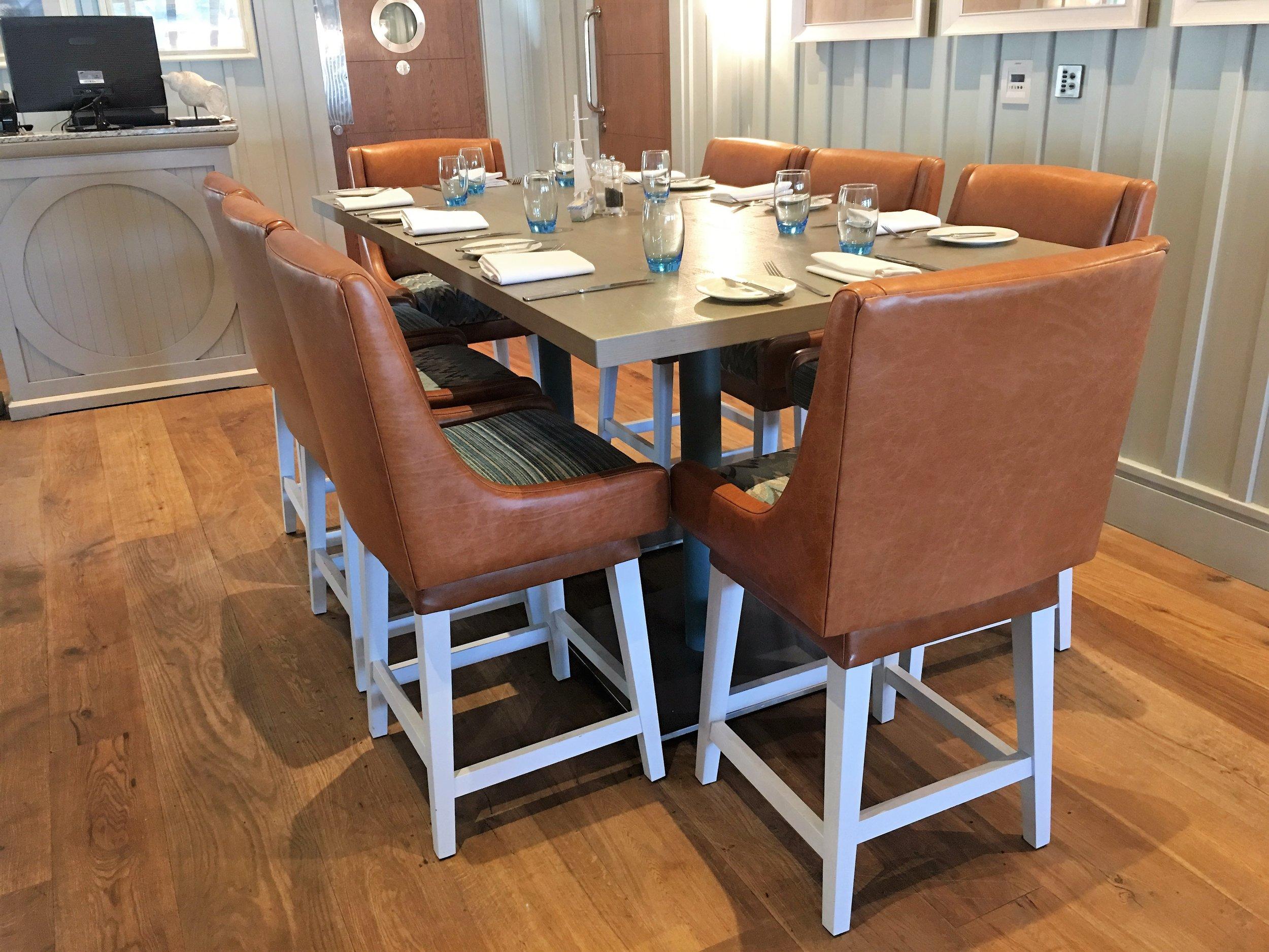 Cameron Boathouse bespoke high stool