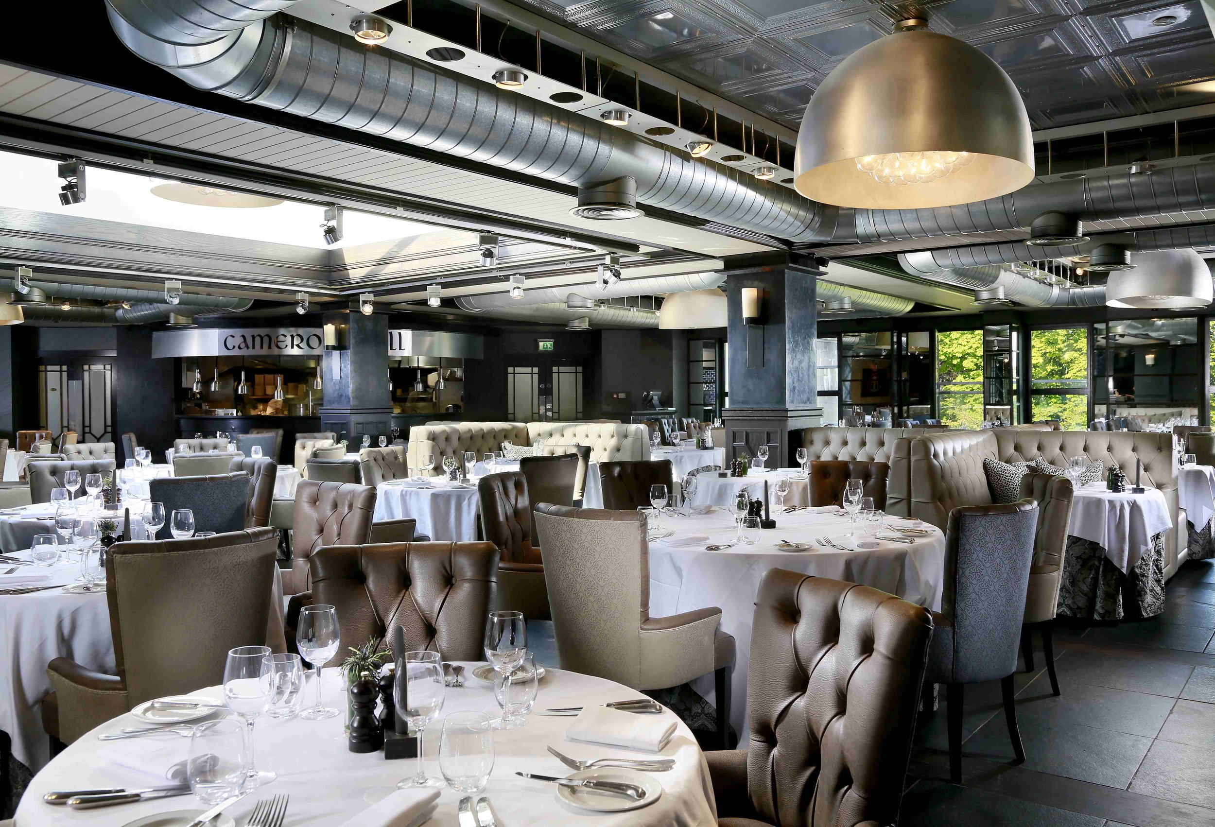Cameron Grill bespoke dining chairs and bqt seating