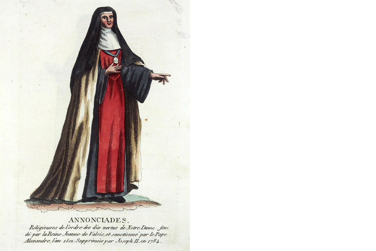 ANNUNTIATENKLEDIJ Maillart, Collection de costumes, 1811 foto CEGAH