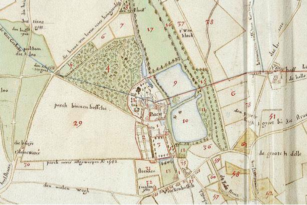 Uit het kaartenboek van de Parkabdij. 16de eeuw. Archief Parkabdij