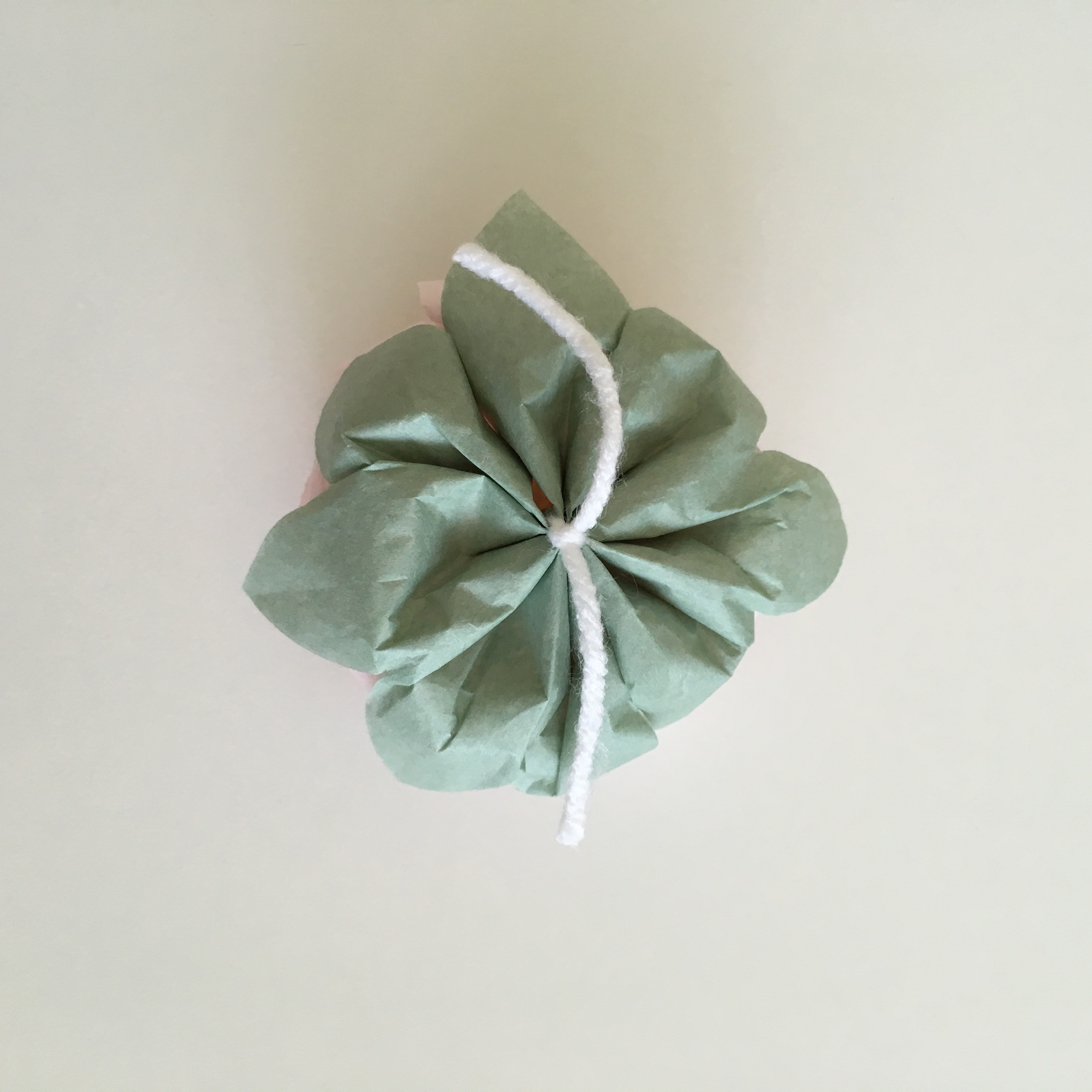 7. Once you are done fluffing up your paper flowers, turn it around.