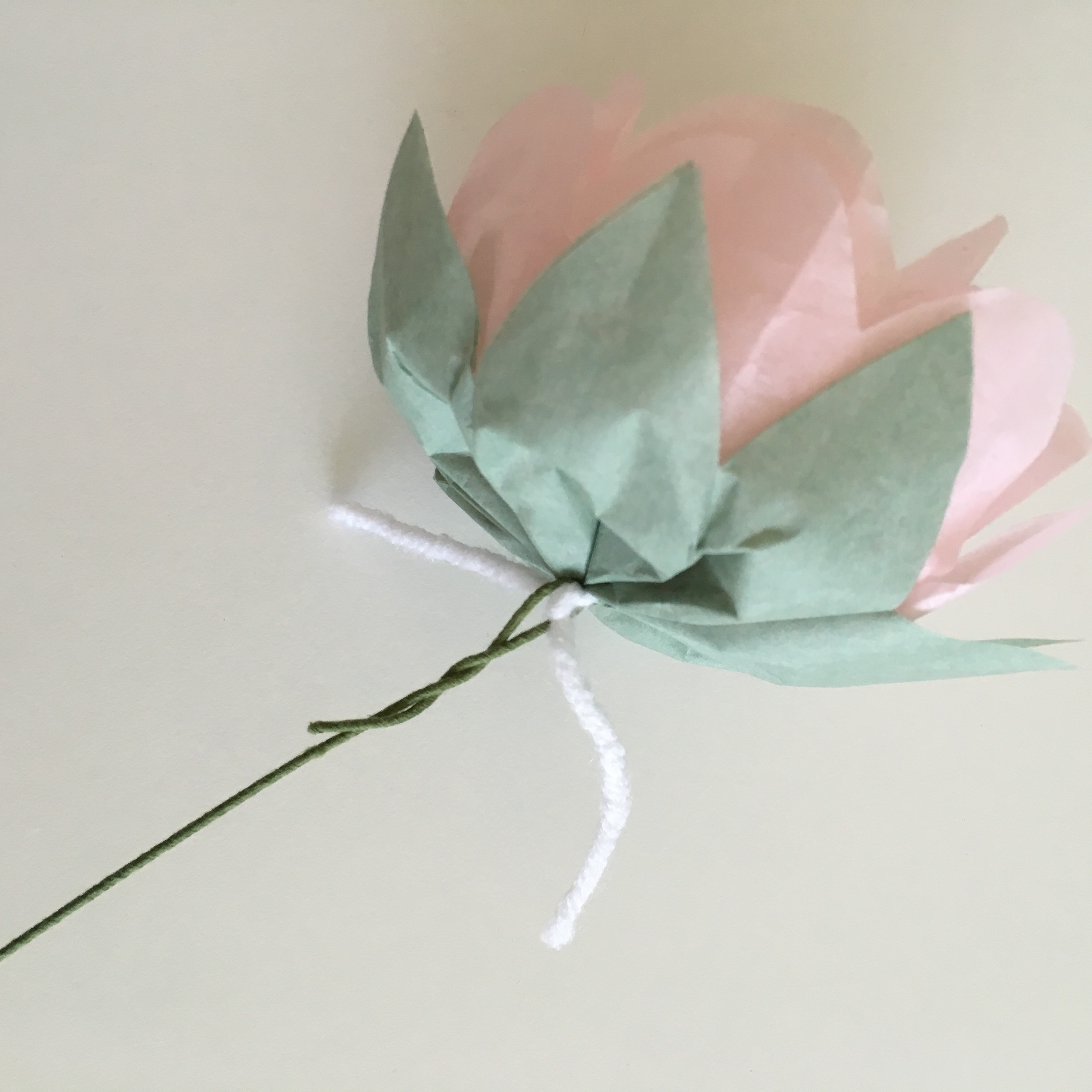 9. Twist the floral wire to secure it.