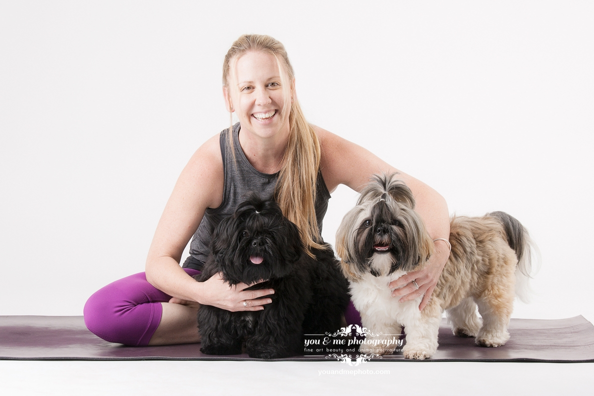 Meet Bear & Bodhi - There are a few classes on the timetable where studio owner Kelly brings her two beautiful Shih Tzu puppies Bear and Bodhi along. The puppies are well trained to keep quiet during class, however they are very friendly and will want to meet you before and after class. During this time they are allowed to move around the studio and delight you with their happy energy. If you are not a dog person, have a fear of dogs, or have allergies (these are hypo-allergic dogs) please do not attend these classes.