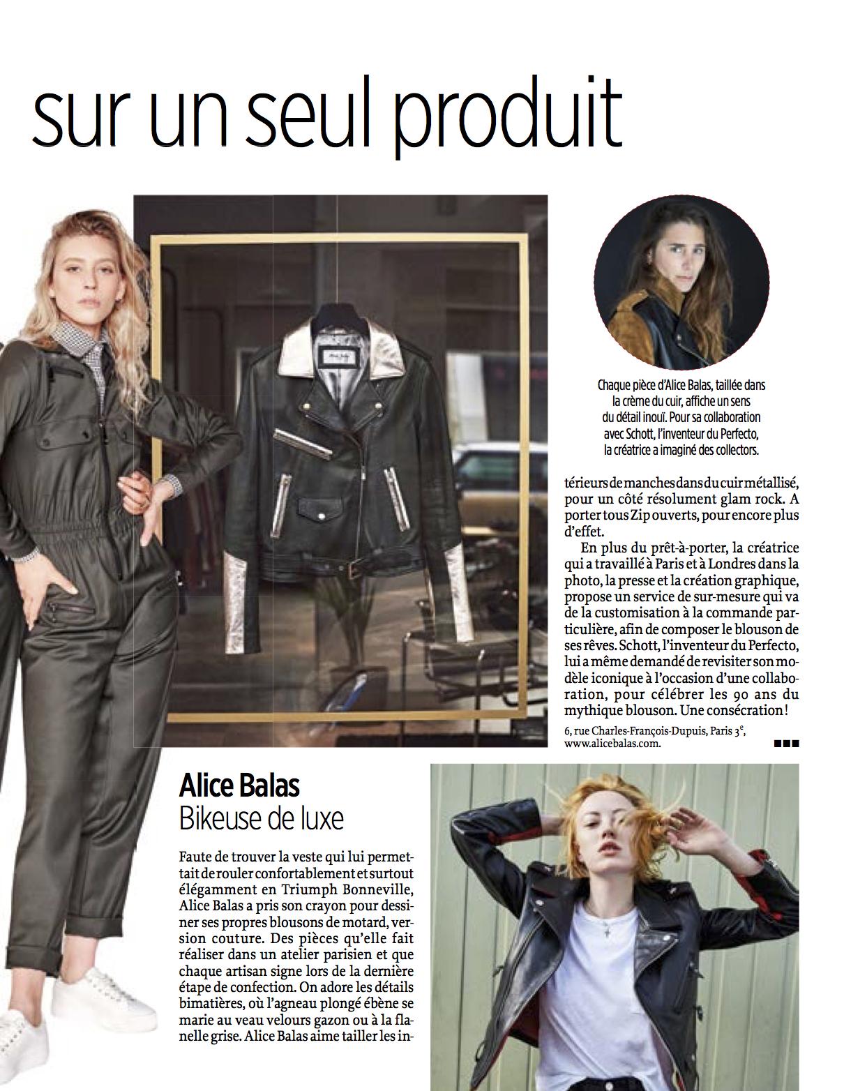 ALICE BALAS LE POINT SPECIAL MODE FEMMES